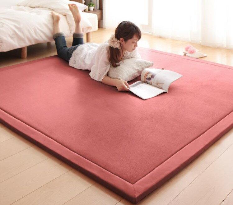 出口日本等級 日本原單 130*190CM 高級纖細珊瑚絨地毯 /  爬行墊 /  遊戲墊 /  榻榻米墊 /  運動墊 /  瑜珈墊 /  地墊 (如需其他尺寸也能訂做) 0