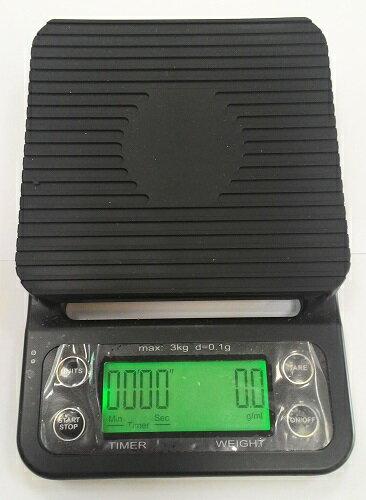 手沖咖啡電子磅秤(有秒數可計時的喔!) 0.1g~3000g [良鎂咖啡精品館]
