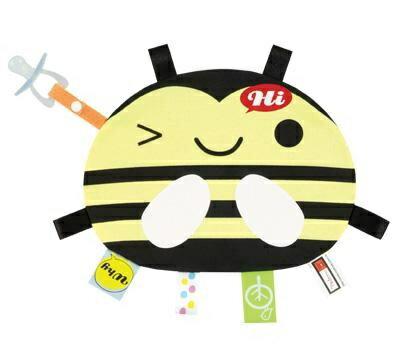 『121婦嬰用品館』拉孚兒 一手掌握布標安撫巾 - 蜜蜂 0