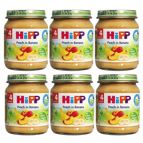 ★衛立兒生活館★喜寶 HiPP 有 機水蜜桃香蕉泥(6罐)#6111*6
