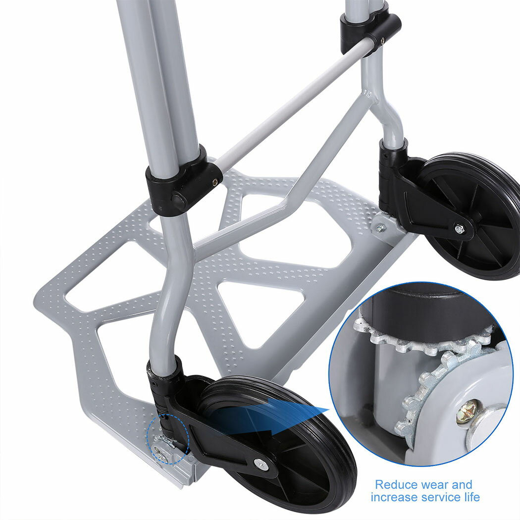 Industrial Folding Hand Truck Dolly 275 lb Capacity Silver 3