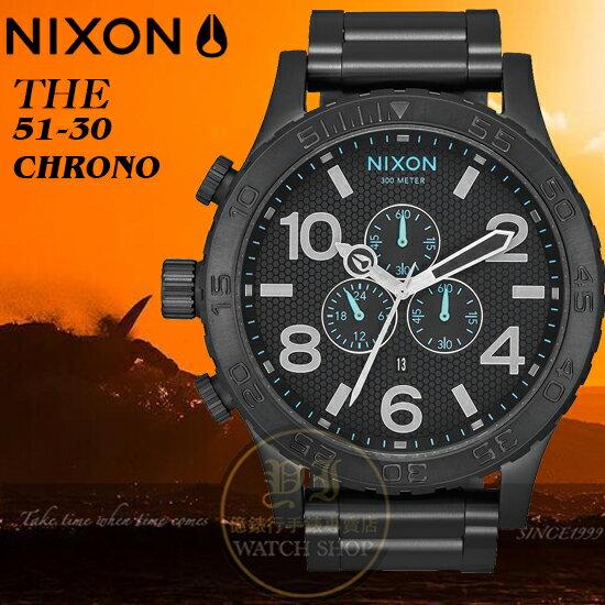 NIXON實體店The51-30Chrono潛水腕錶A083-602公司貨極限運動禮物衝浪