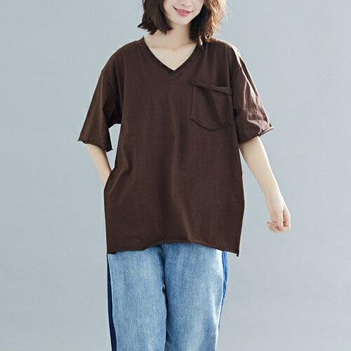 V領T恤寬鬆上衣(4色F碼)【OREAD】 2