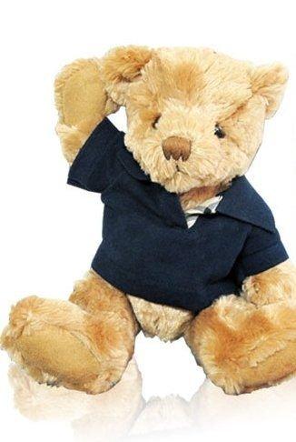 ►單品免運◄ BURBERRY 藍色POLO衫泰迪熊 ☆真愛香水★