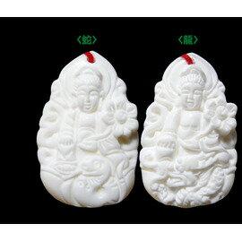 【吉祥開運坊】十二生肖守護神【硨磲~生肖/龍與蛇/守護神-普賢菩薩*1/項鍊】開光//淨化//擇日
