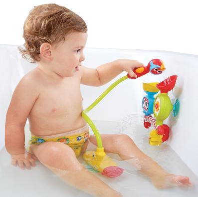 【淘氣寶寶】以色列 Yookidoo 戲水玩具-大眼瀑布蓮蓬頭套組