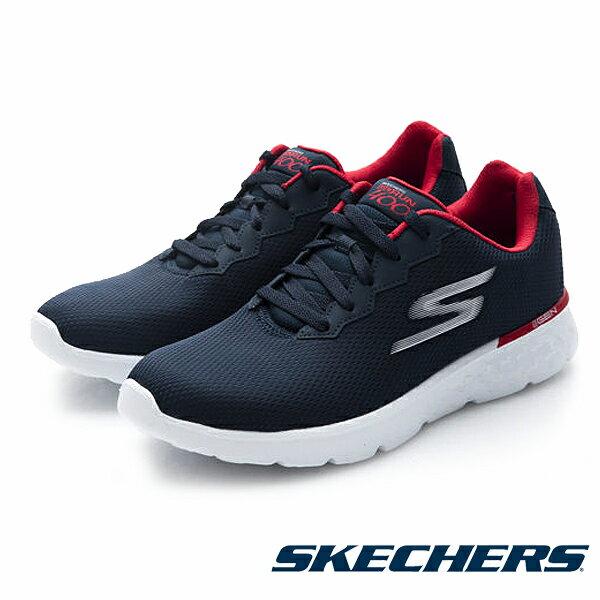【SKECHERS 8折│全店免運】SKECHERS 跑步系列 Go Run 400 男 藍紅 休閒鞋│運動鞋│健走鞋