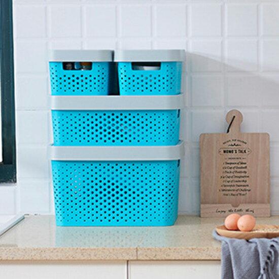 ●MYCOLOR●鏤空4件套收納盒搬家透氣式桌面內衣抽屜整理箱家用有蓋文胸【Z89】