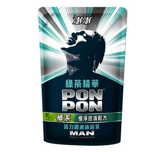 澎澎MAN 綠茶多酚 活力煥膚沐浴乳 補充包 700g 【售完為止】