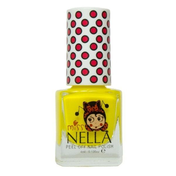 英國【MissNella】妮娜小姐水性可撕式安全指甲油4ml-太陽黃MN13兒童指甲油