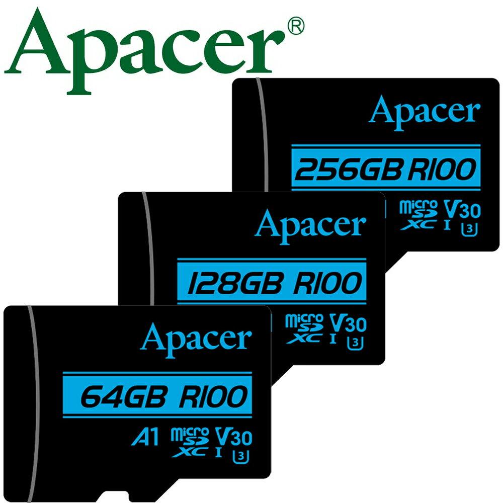 Apacer 宇瞻 256GB 128GB 64GB microSDXC TF A1 U3 V30 記憶卡 128G 256G 64G