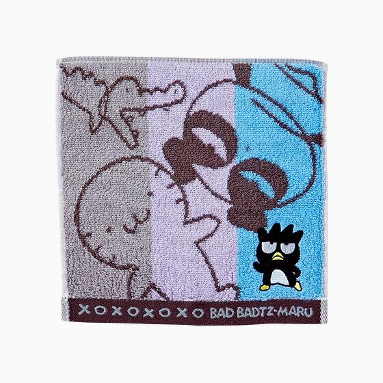 【真愛日本】17071100017 繻子織小方巾-XO三色條紋+AAX 三麗鷗 酷企鵝 毛巾 盥洗用品