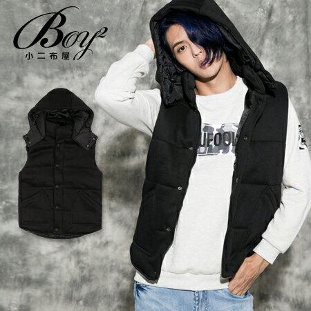 ☆BOY-2☆ 【KKL9141】韓版素面連帽鋪棉背心 0