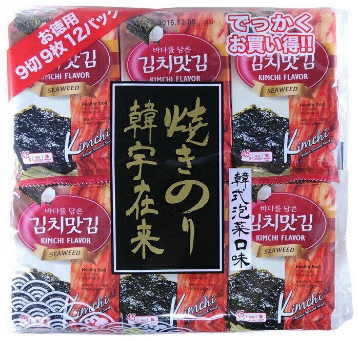 韓宇在來海苔12P(泡菜口味)/韓國海苔/8809023461919