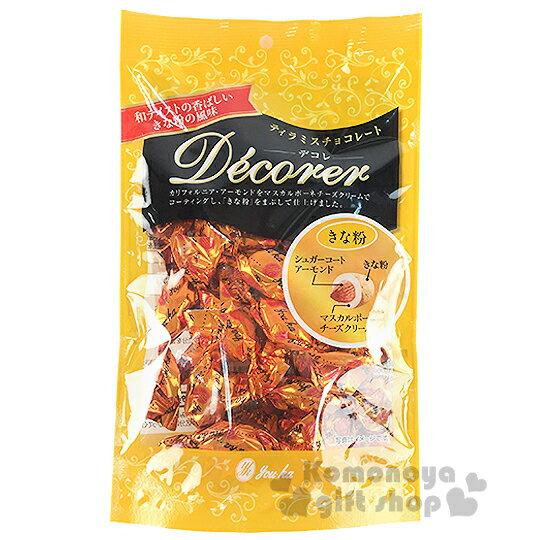 〔小禮堂〕日本原產 Youka Decorer 呼吸巧克力《76g.黃袋裝》杏仁黃豆口味