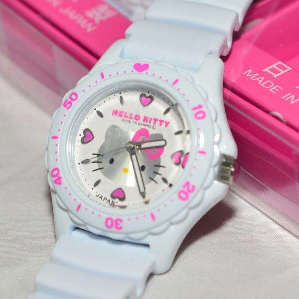 日本製HelloKittyCITIZEN星辰錶白色氣壓防水指針式手錶日本限定附精美禮盒
