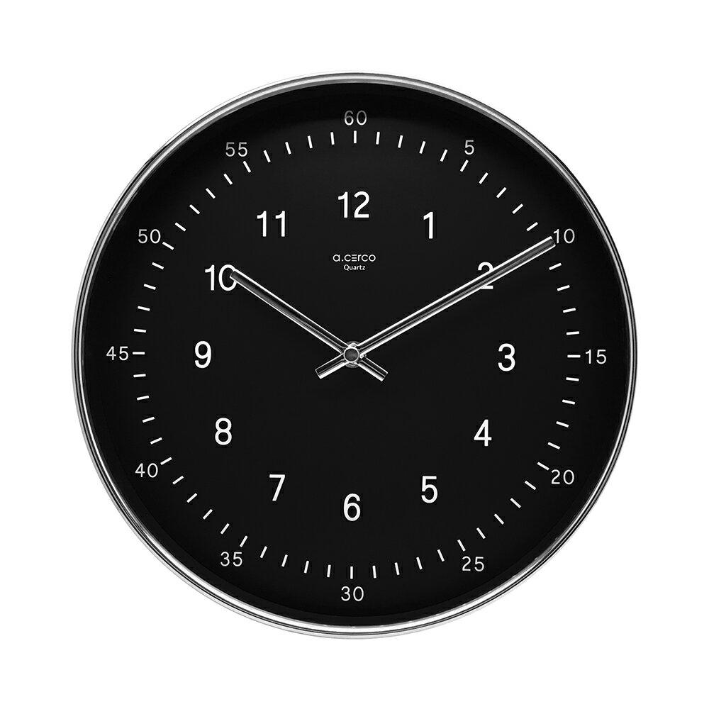 時鐘/掛鐘/壁鐘 【a.cerco】TWOTONE鋁質框黑底 MIT台灣製 完美主義 【R0018】