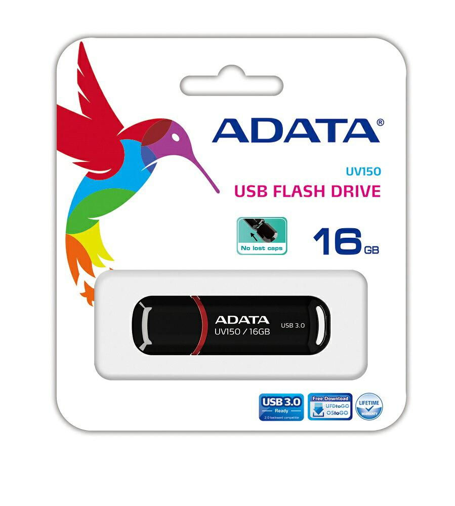 ADATA DashDrive UV150 USB 3.0 Flash Drive 16GB Black (AUV150-16G-RBK) 1