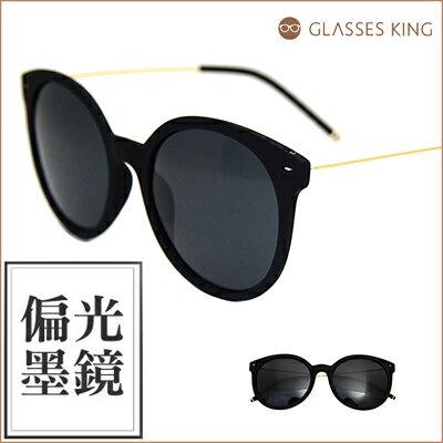 『斷貨』眼鏡王☆圓框復古塑鋼輕巧造型設計海灘夏日偏光墨鏡太陽眼鏡黑P82