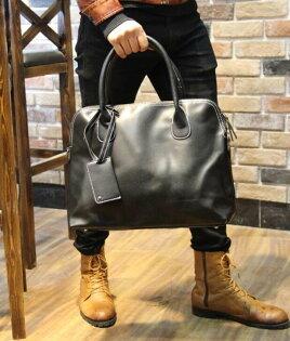 FINDSENSEZ1韓國時尚潮男皮質手提包複古單肩包斜背包側背包電腦包公事包