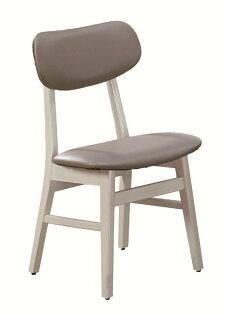 【石川家居】JF-484-3溫尼洗白色灰皮餐椅(單只)(不含其他商品)台北到高雄搭配車趟免運