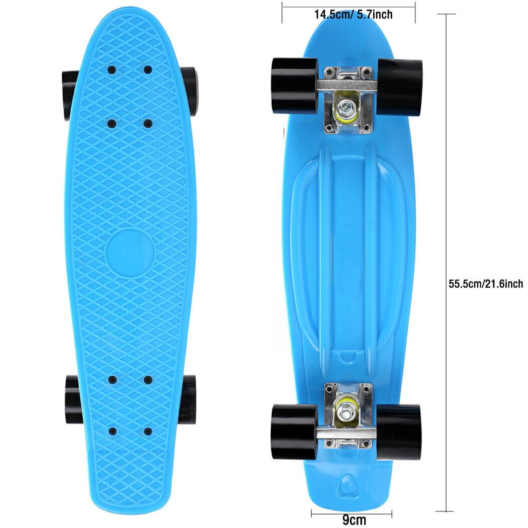 Complete Deck Skateboard Mini Plastic Skate Board 8 Colors 3