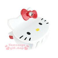 凱蒂貓週邊商品推薦到〔小禮堂〕Hello Kitty 造型鯊魚夾《白.大臉.紅蝴蝶結》甜美可愛
