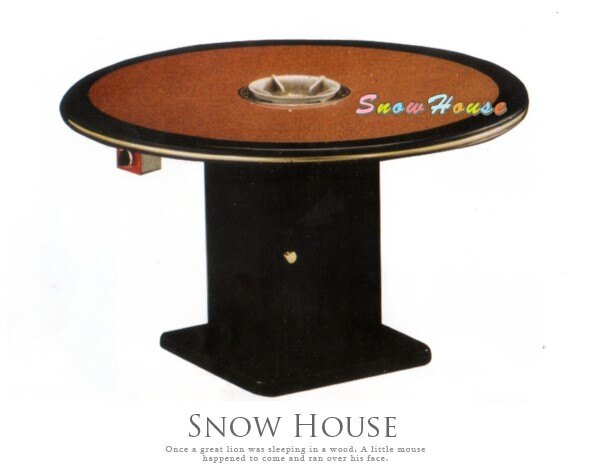 ╭☆雪之屋居家生活館☆╯AA639-03 4尺圓火鍋桌(紅寶石/纖維板/美耐板面)(DIY自組)/餐桌/飯桌