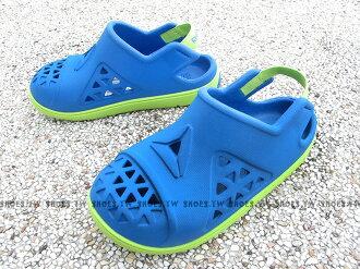 Shoestw【BD3693】Reebok 童鞋 涼鞋 防水 護趾 鬆緊帶 藍 螢綠 小童