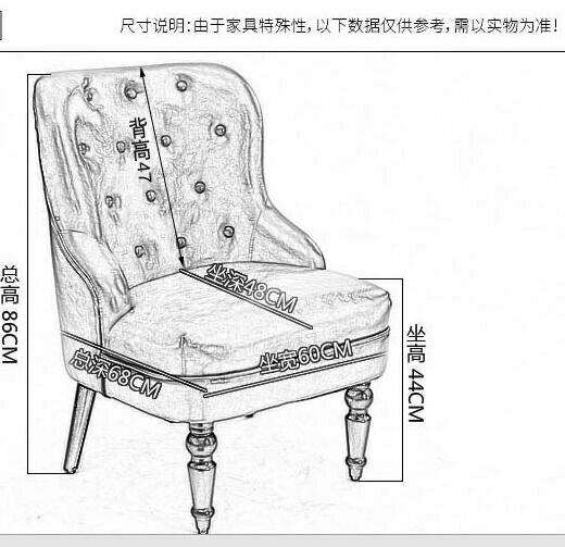 單人沙發 美式單人沙發椅歐式北歐沙發臥室陽臺懶人休閑布藝小沙發椅【99購物節】