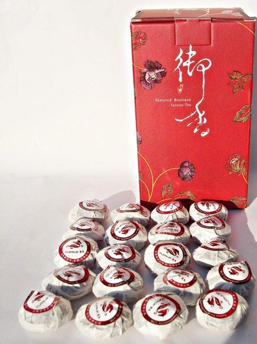 【臻馥郁茶行] 2010年普秀小玉餅(迷你沱茶) 100克 七年陳化的棗香熟茶。湯色紅褐透亮,口感柔滑、醇厚回甘。