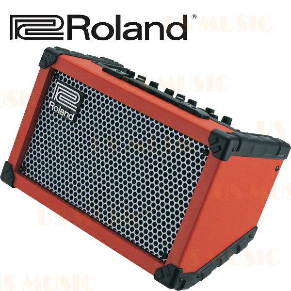 【非凡樂器】『Roland Cube Street』橘紅色 街頭藝人專用音箱 電吉他/木吉他/主唱/鍵盤 皆適用