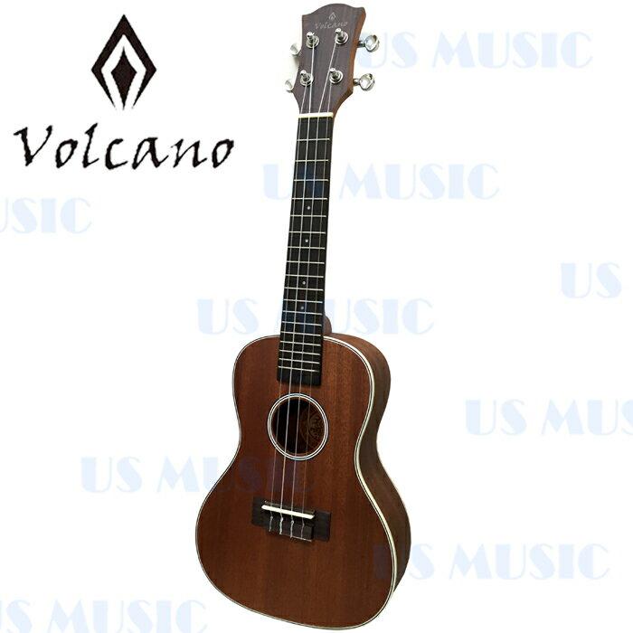 【非凡樂器】『Volcano V2-UMC 23吋』全椴木Ukulele 烏克麗麗 夏威夷小吉他『加贈調音器/擦琴布/PICK/指法表』