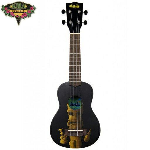 【非凡樂器】『加送調音器KALA KA-STIKI』 21吋 提基頭像 ukulele彩繪烏克麗麗 個性黑色
