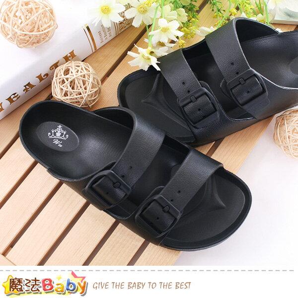男鞋經典時尚雙扣休閒拖鞋魔法Baby~sd5032