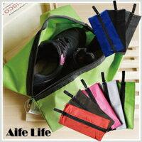 【aife life】長型鞋子收納袋 / 鞋子收納包 鞋袋 旅行鞋袋 沙灘收納袋 0