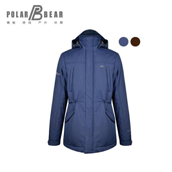 【POLARBEAR】男WINDSTOPPER填充科技羽絨外套