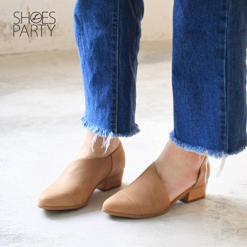【P2-17825L】外側簍空真皮踝靴_Shoes Party 3