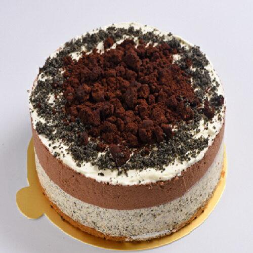 低醣比利時巧克力餅乾黑芝麻慕斯蛋糕 (6吋 / 8 吋)
