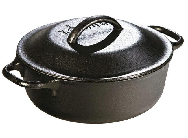 【鄉野情戶外用品店】 Lodge |美國| 雙耳鑄鐵鍋/燉鍋 荷蘭鍋 鑄鐵鍋/L2SP3 《2QT》