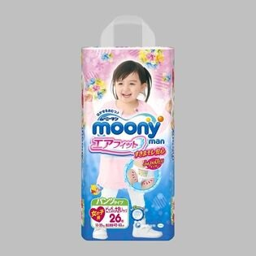 moony日本頂級超薄紙尿布紙尿褲(女生褲型)XXL26片X3包(箱購)★衛立兒生活館★