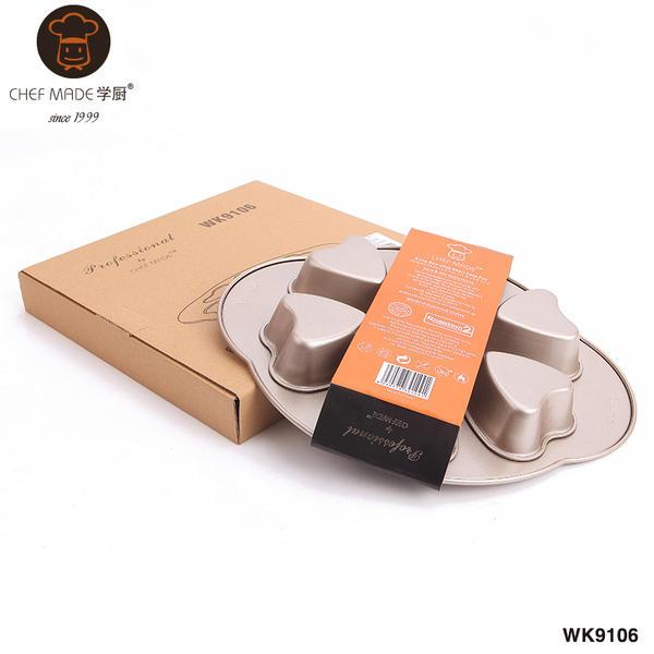 【八八八】e網購~【學廚愛心蛋糕模具烘焙DIY心形巧克力餅幹模WK9106 CA275】NO135烘焙模具 1