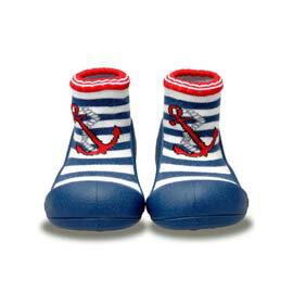 【悅兒樂婦幼用品舘】韓國Attipas快樂腳襪型學步鞋-AM01-水手深藍(M/L/XL)