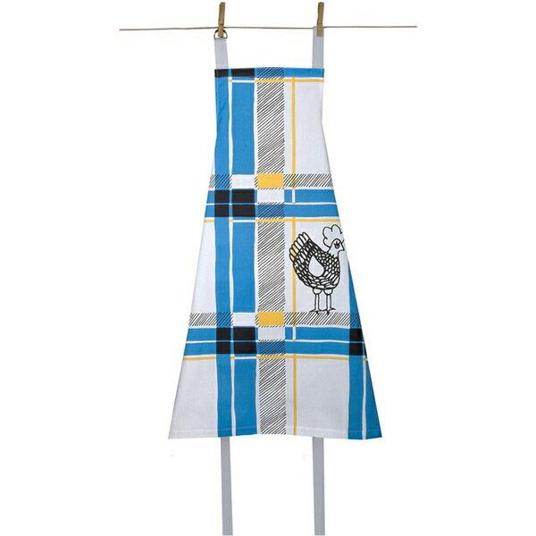 《法國 La Cocotte Paris》廚房的美好時光圍裙 Tartan Bleu Cocotte 0