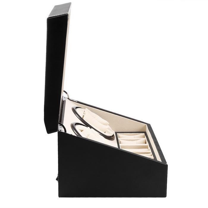 Automatic Watch Winder 4+6 Slot Leather Storage Rotation Case Display Box Organizer 3