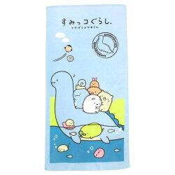 日貨 角落生物 直式 恐龍藍色毛巾 毛巾 浴巾 運動巾 海灘巾 角落小夥伴 San-x 正版 授權 J00015353