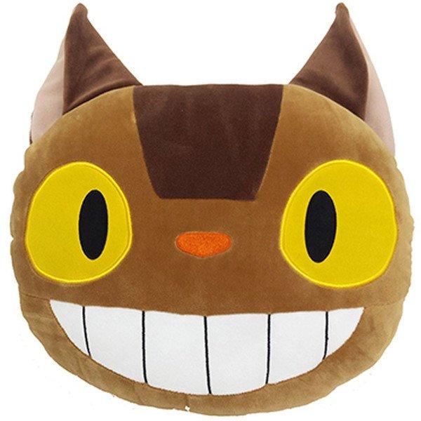 【真愛日本】17081400029 造型綿綿扁抱枕-貓公車 宮崎駿 龍貓 TOTORO 豆豆龍 娃娃 靠枕墊