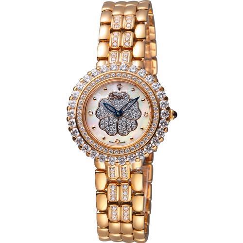 【樂天馬拉松限量$19,900~4/24 18:00開賣】瑞士名錶愛其華山茶花鑽石女錶 型號305-21DLR  全家取貨免運費