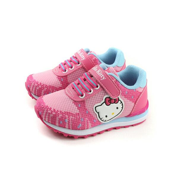 HUMAN PEACE:HelloKitty凱蒂貓KITTY運動鞋休閒鞋桃紅色大童717496no752