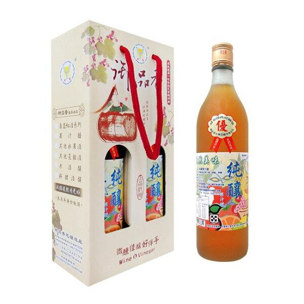 好客HAOKE:《好客-御品香》純釀果汁醋(600ml瓶,2瓶盒)(免運商品)_A049001